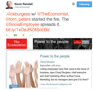 Tom Peters fire Kevin Randall tweet