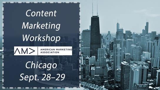 Coming to Chicago AMA #ContentMarketing Workshop #Content
